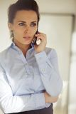 Elegant young woman talking business on the phone Royalty Free Stock Image