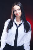 Elegant young woman in white shirt Royalty Free Stock Image