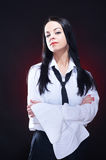 Elegant young woman in white shirt Royalty Free Stock Photography