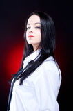 Elegant young woman in white shirt Royalty Free Stock Photo