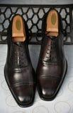 Eleganta bruna skor Royaltyfria Bilder