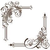 Eleganta dekorativa ramhörn Arkivbilder