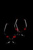 eleganta exponeringsglas två för konjak Royaltyfri Fotografi