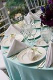eleganta favörer table bröllop Arkivbild