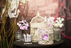 Eleganta garneringar på händelse- eller brölloppartiet Royaltyfria Bilder