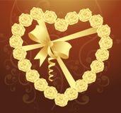 eleganta hjärtabandro Arkivbilder