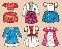 Eleganta klänningar för lite flicka Royaltyfria Foton