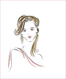 Eleganta kvinnor stock illustrationer