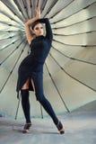 Eleganta latinska kvinnadansare Royaltyfri Fotografi