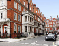 eleganta london townhouses Arkivbild