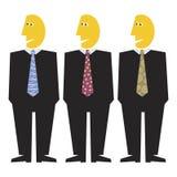 eleganta män tre Arkivfoton