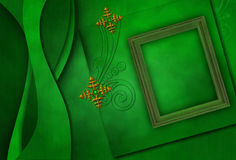 eleganta metalliska photoframesnowflakes Royaltyfri Foto
