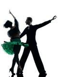 Eleganta pardansare som dansar konturn Royaltyfria Foton