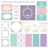 Eleganta ramar, mallar och designbeståndsdelar Royaltyfria Bilder