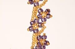 Eleganta smycken för handgjord blomma Royaltyfri Fotografi