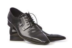 Eleganta svarta skor Royaltyfri Foto