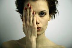elegante情感妇女年轻人 免版税库存照片