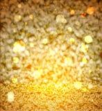 Elegante abstracte achtergrond met goud bokeh Stock Afbeeldingen