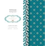 Elegante achtergrond met kantornament en plaats voor tekst Bloemen elementen, overladen achtergrond Stock Fotografie