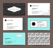 Elegante adreskaartjes Royalty-vrije Stock Fotografie