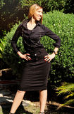 Elegante afro-amerikanische Frau Lizenzfreies Stockfoto