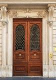Elegante alte Tür lizenzfreie stockbilder