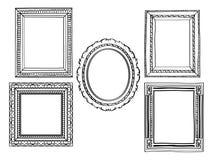Elegante aufwändige Rahmen Lizenzfreies Stockfoto