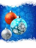 Elegante Blauwe Kerstkaart. EPS 8 Stock Afbeelding