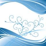 Elegante bloemen vectorachtergrond Stock Foto's