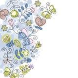 Elegante bloemenachtergrond Stock Foto