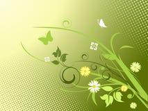 Elegante bloemenachtergrond Royalty-vrije Stock Afbeelding