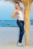 Elegante blonde Frau Lizenzfreie Stockfotos