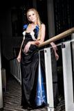 Elegante Blonde Vrouw royalty-vrije stock foto