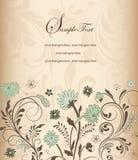 Elegante Blumeneinladungskarte Stockfotografie