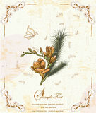 Elegante Blumeneinladungskarte Lizenzfreies Stockfoto