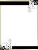 Elegante Blumenseiten-Rand-Schablone Stockfoto