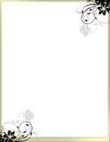 Elegante Blumenseiten-Rand-Schablone kein Vorsatz Stockbild