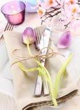 Elegante Blumentabellen-Einstellung Lizenzfreies Stockfoto