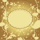 Gouden bloemenkaart Royalty-vrije Stock Fotografie