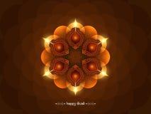 Elegante braune Farbeglückliches Diwali-Hintergrunddesign Stockbilder