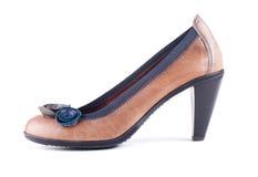 Elegante braune Schuhe Stockfotografie