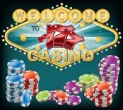 Elegante Casinosymbolen royalty-vrije stock foto