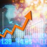 Elegante colorido do gráfico do mercado de valores de ação no fundo abstrato Imagens de Stock