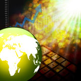 Elegante colorido do gráfico do mercado de valores de ação no fundo abstrato Fotos de Stock