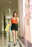 Elegante dame bij het winkelen Stock Foto