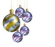 Elegante decoratieve geïsoleerdeg Kerstmissnuisterijen. Stock Afbeeldingen