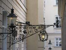 Elegante Dekoration der alten Stadt von Wien Österreich stockbild