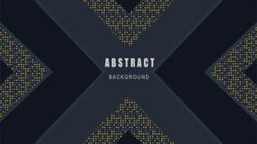 Elegante Dekoration des Papierschnittes, abstrakter schwarzer Hintergrund-Vektor stock abbildung