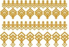 Elegante dekorative Grenze bildete von quadratischem Goldenem und von Weiß 15 Stockfoto