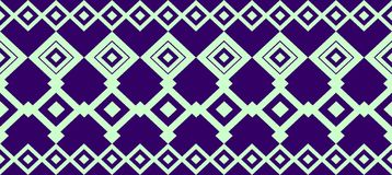 Elegante dekorative Grenze bildete von quadratischem hellgrünem und dunkelblau Stockfoto